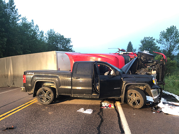CVFRS, along with state police and Shelburne police, responded to an early-morning crash on Route 7 in Charlotte. Courtesy photo