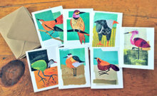 Marcia Vogler's original bird collages, blank cards and blank card sets will be for sale at the CCS PTO virtual craft fair.