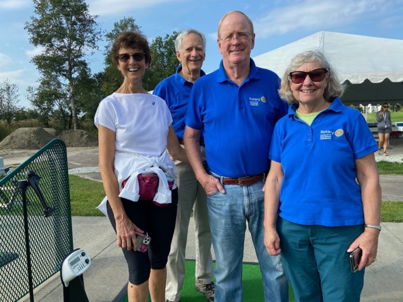 Some of the Charlotters present at the Golf Ball Drop. Left to right: Teena Flood, John Hammer, Ric Flood, Linda Gilbert. Photo contributed